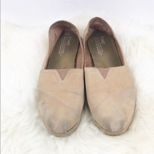💥 Toms Leather Slip On Shoes